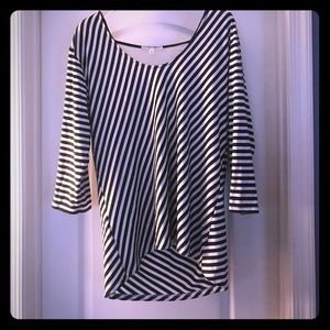 Tops - Top/Exposed back! Black & White Stripped